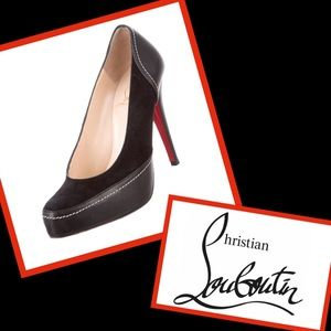 Authentic leather & suede Christian Louboutin